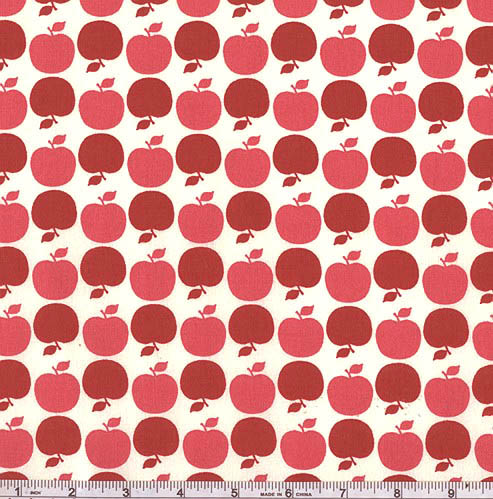 Michael Miller Farmers Market Apple Dot Pink Fabric