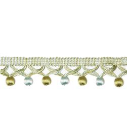 Decorative Trim Posh Tassel Fringe Aqua/Olive