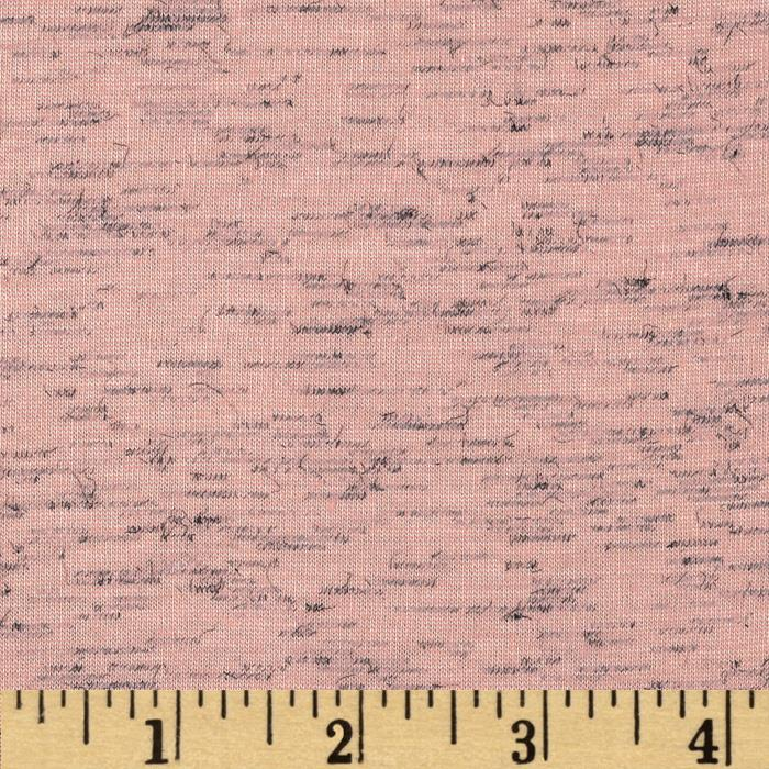 Stretch Slub Tri Blend Jersey Knit Light Pink