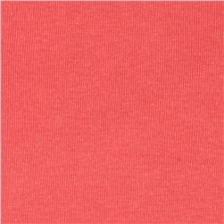 Basic Cotton Baby Rib Knit Solid Coral