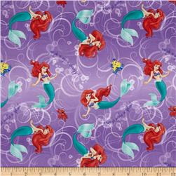 Disney Little Mermaid Alway's a Splash Ombre Lavender