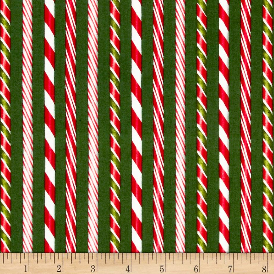 Holly Jolly Christmas Candy Cane Evergreen