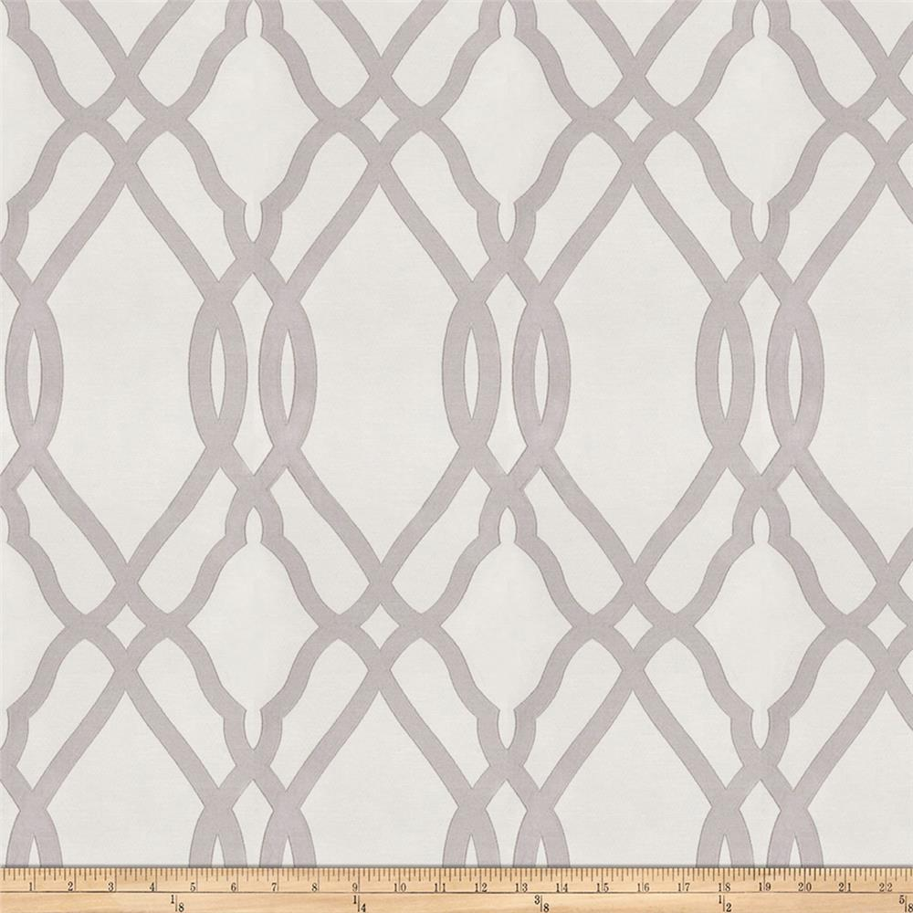 Fabricut Jeebie Lattice Faux Silk Smoke