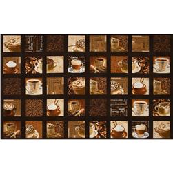 Kanvas Cafe Au Lait Coffee Patch Espresso Fabric