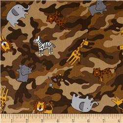 Kokka Jungle Animals Camo Brown