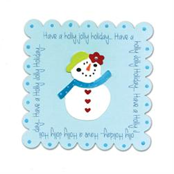 Sizzix Bigz Clear Die - Square, Scallop by