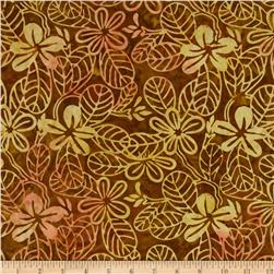 Moda Color Crush Batiks Leaf Bronze