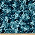 Belleflower Large Tonal Floral Teal