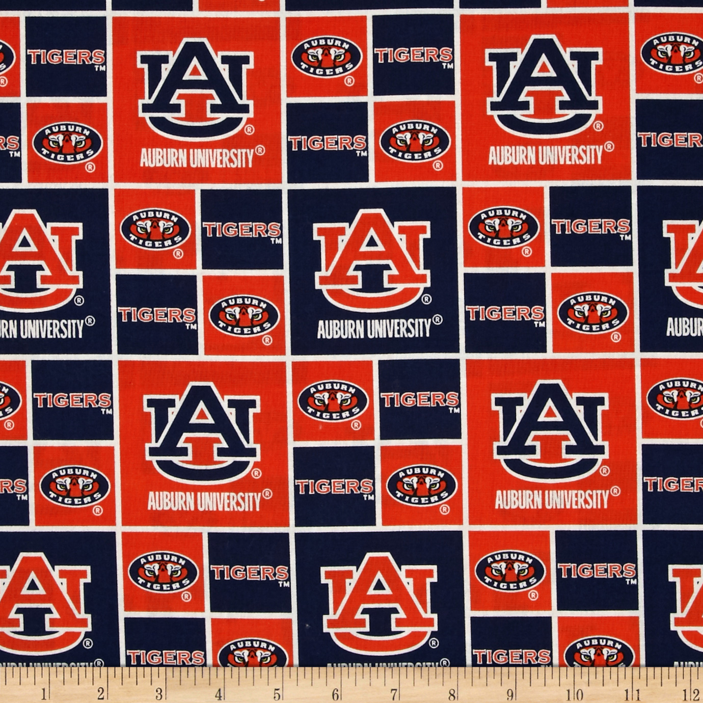 Collegiate Cotton Broadcloth Auburn Tigers Fabric Style 417858 by Sykel in USA
