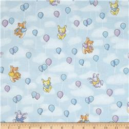 Play Day Flannel Balloons Blue
