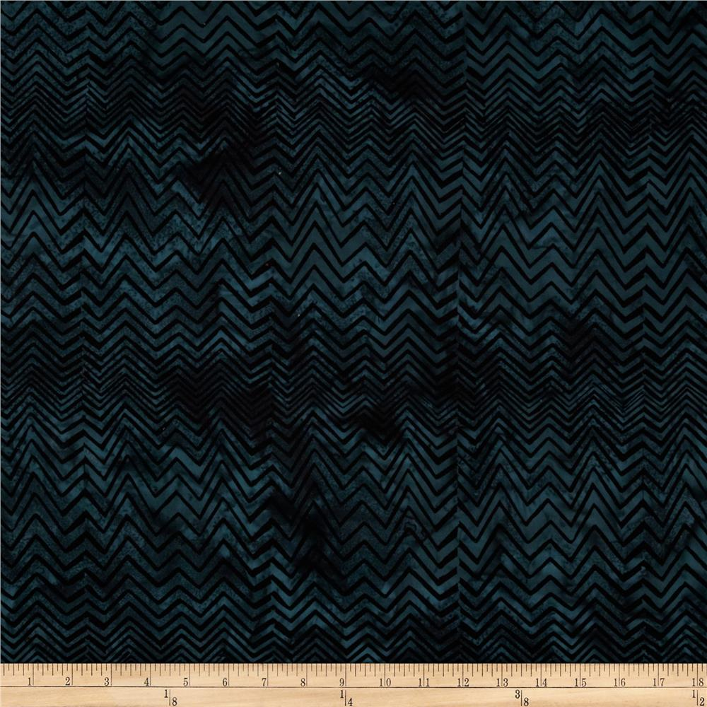 Bali Batiks Handpaints Chevron Midnight