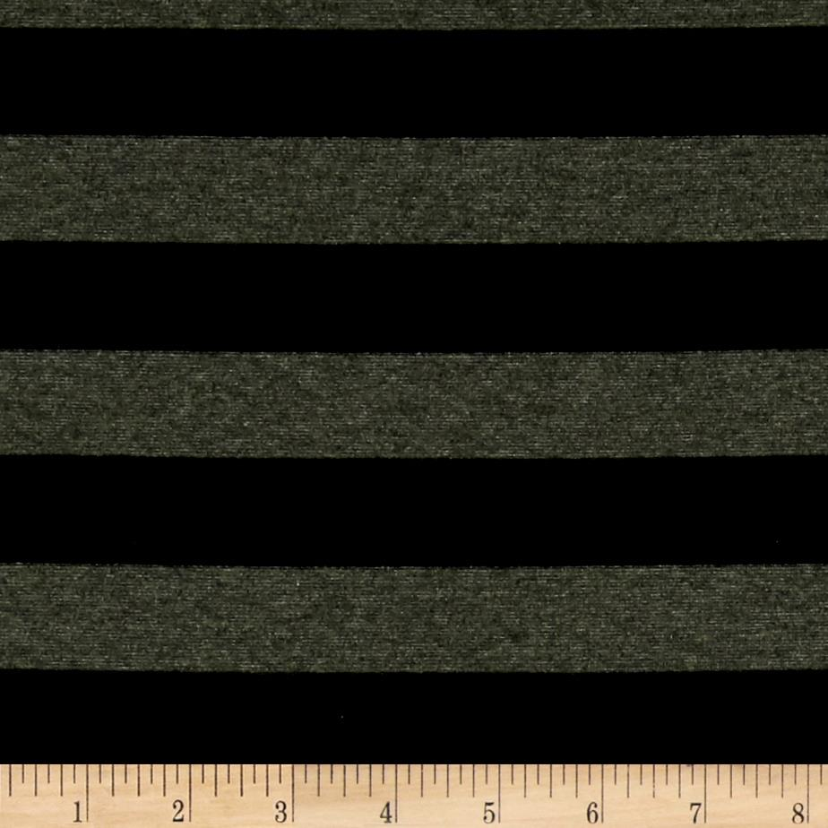 Jersey Knit Stripes Black/Green