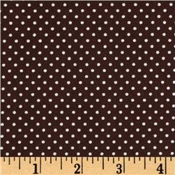 Pimatex Basics Mini Dots Chocolate Fabric