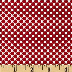 Essentials 9 Geo Dots Red Fabric