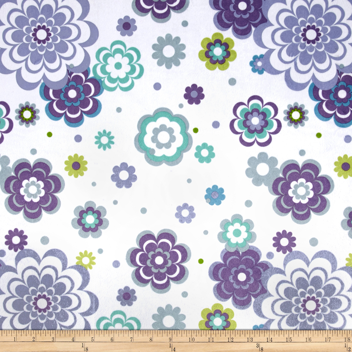 Minky Fantasy Blue/Purple Fabric