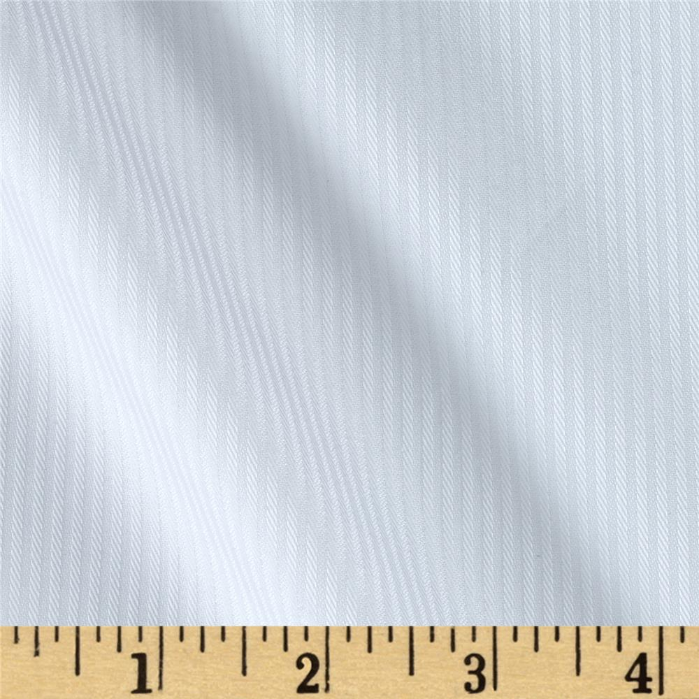 Kaufman White Shirt Yarn Dyed Stripe White
