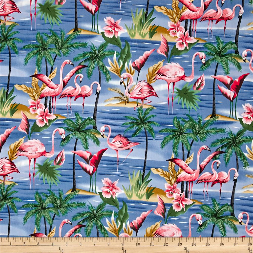 Hoffman Tropical Collection Flamingo Blue