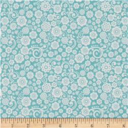 Riley Blake Happy Day Floral Aqua