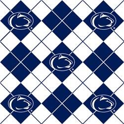 Collegiate Fleece Penn State University Argyle Fabric