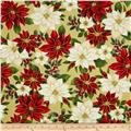 Holiday Elegance Metallic Poinsettia Tan