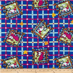 Dog Plaid Flannel Royal