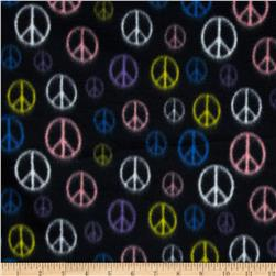 Fleece Peace Sign Black
