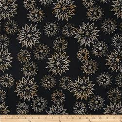 Timeless Treasures Tonga Batik Snowflake Mix Jet