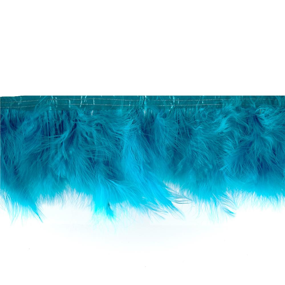 Feather Trim Turquoise