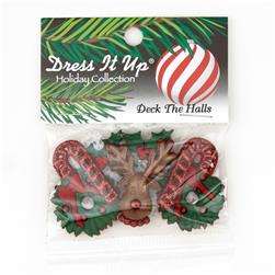 Dress It Up Embellishment Buttons  Deck The Halls