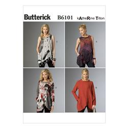 Butterick Misses' Tunic Pattern B6101 Size 0Y0