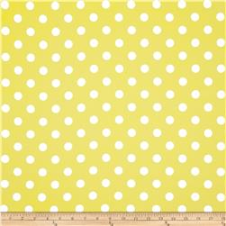 RCA Polka Dots Blackout Drapery Fabric Lemon