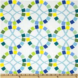 Moda Quilt Blocks Wedding Rings Marine Blue