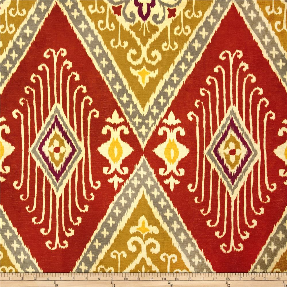 Iman Home Ikat Diamond Antique Velvet Spice