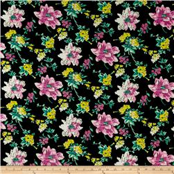 Floral ITY Knit Black/Pink/Yellow