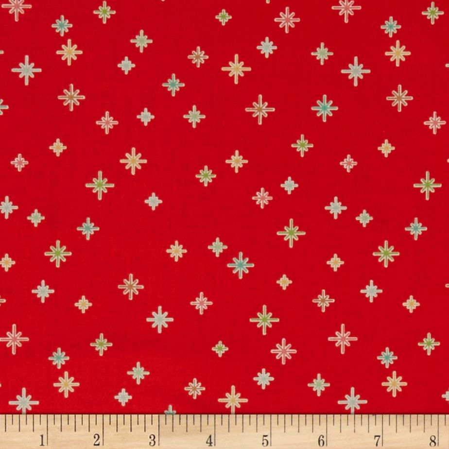Riley Blake Cozy Christmas Sparkle Red