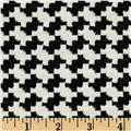 Unison Knit Houndstooth Black/White