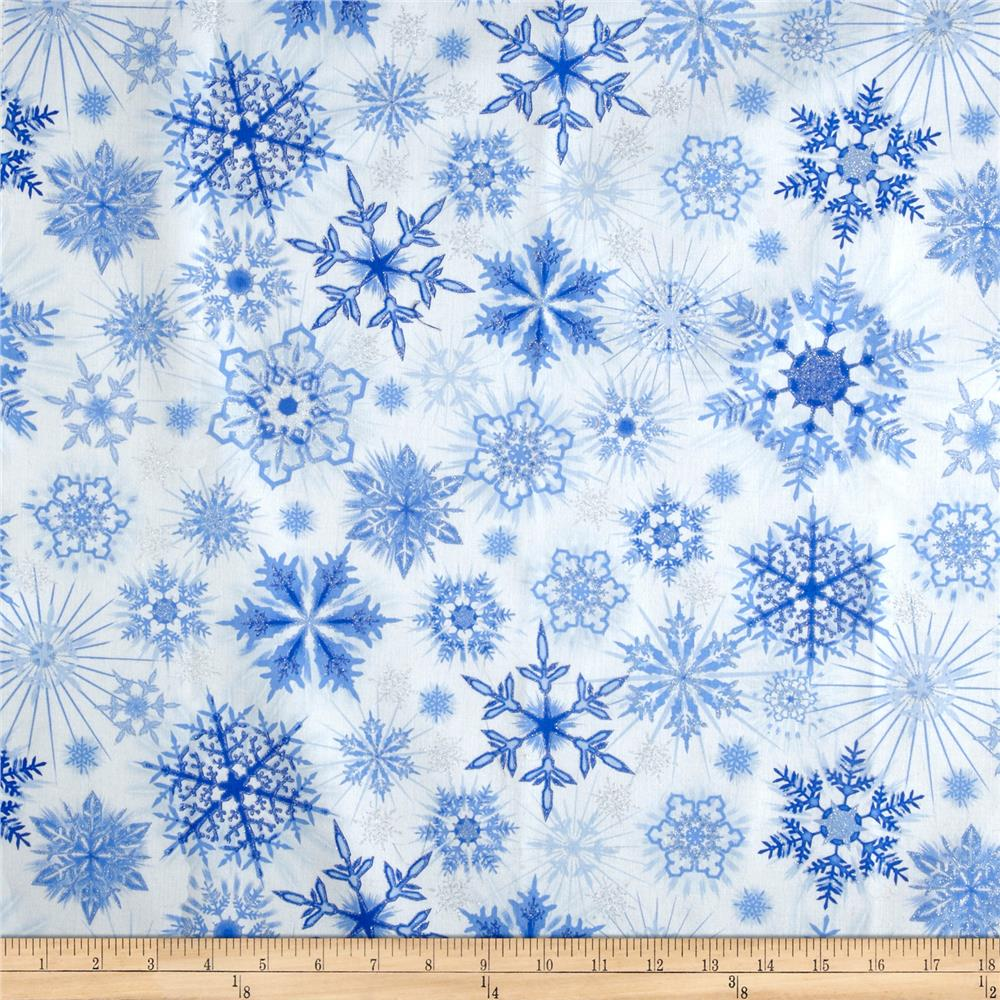 Icing On Fabric: Timeless Treasures Ice Frost Snow