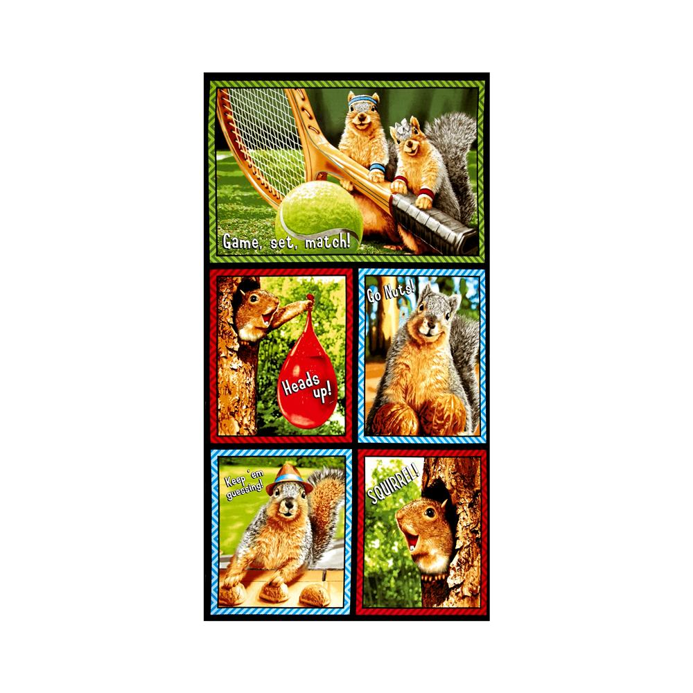 Kaufman Squirrel! Outdoor Sports 23 In. Panel Bright