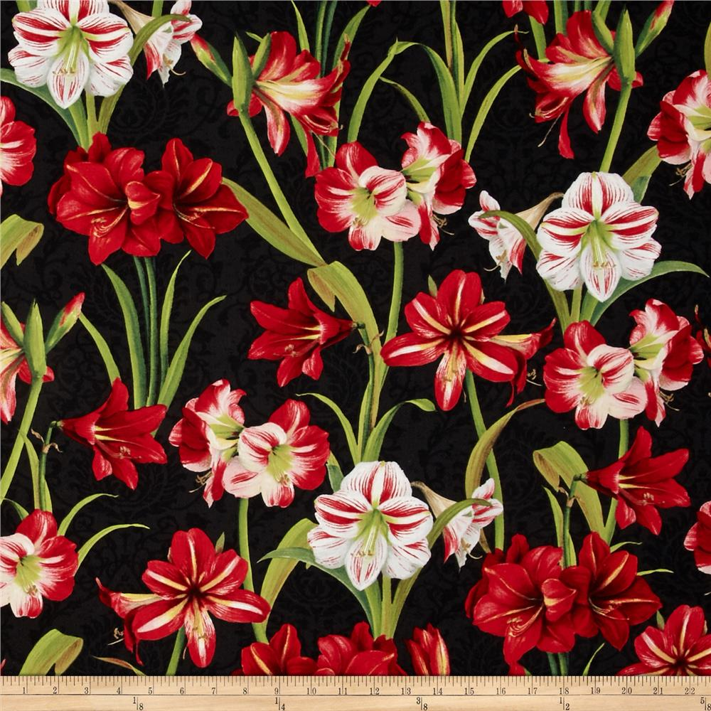 Making Spirits Bright 57 In. Wide Amaryllis Allover