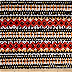 Ethnic ITY Prints Blackl/Orange
