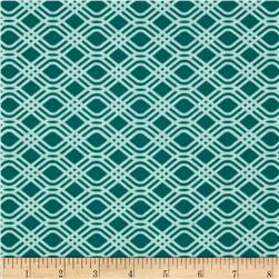 SunPrint Party Streamer Teal Light Fabric
