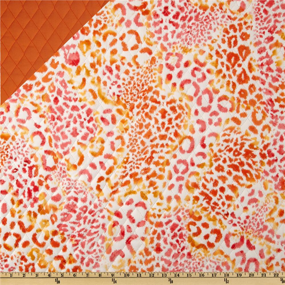 Double Sided Quilted Animal Skin Orange