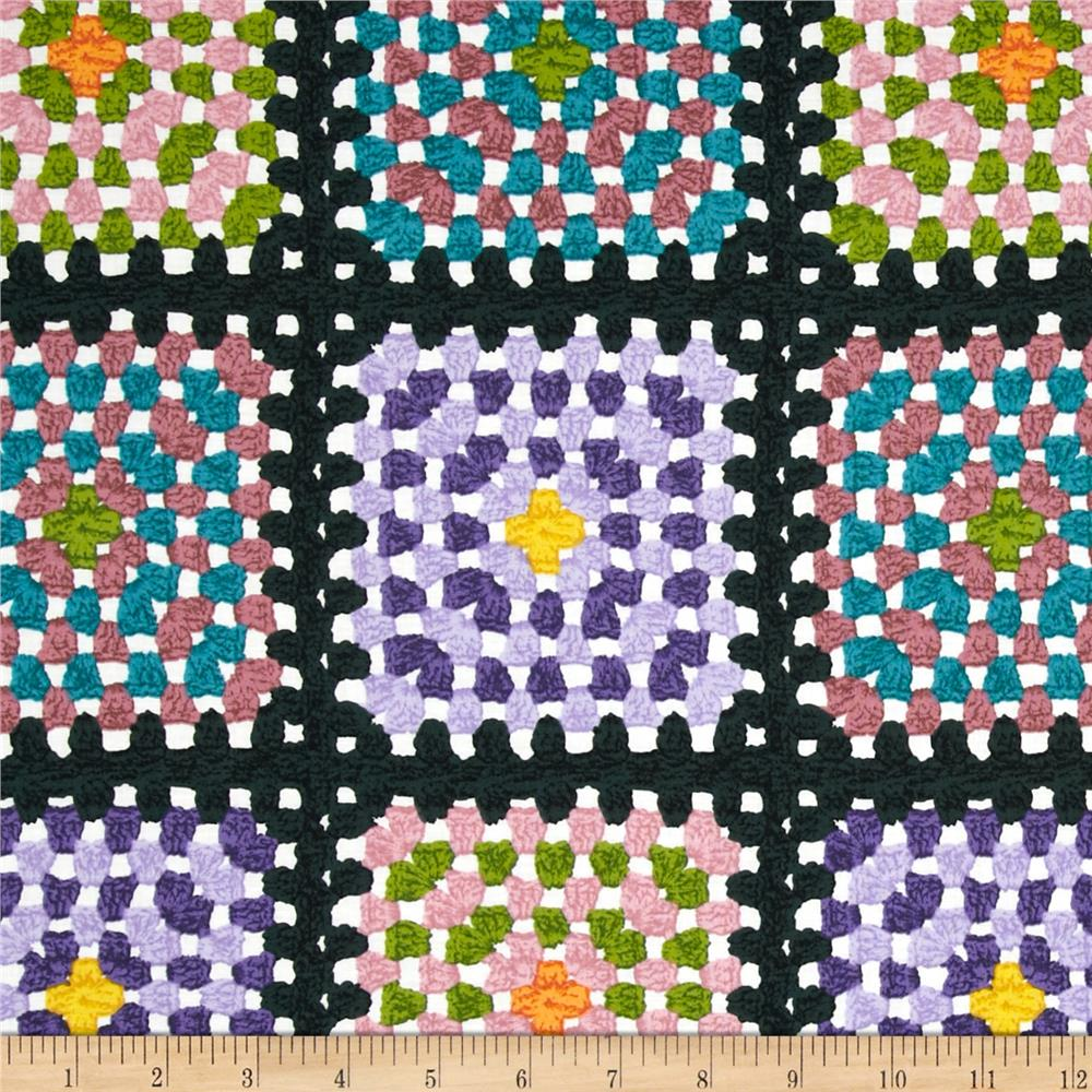 Downtown Granny Squares Black