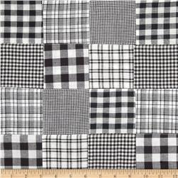 Madras Plaid Patchwork Black/White