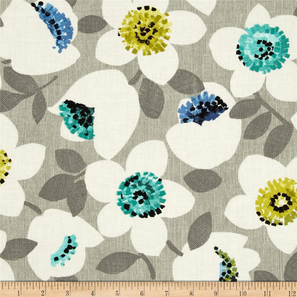 Contempo Cachet Small Flower Green/Grey