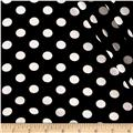 Bubble Crepe Medium Polka Dots Black/White