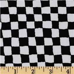 Timeless Treasures Checkered White/Black