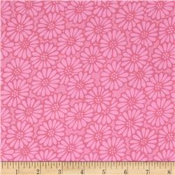 110'' Wide Quilt Backing Daisy Light Pink Fabric