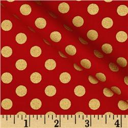 Spot On Metallic Medium Dot Scarlet