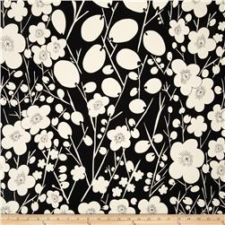 Nobi Plum Blossoms Black/White Fabric